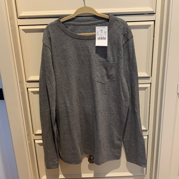 NWT Boys Jcrew Crewcuts gray long sleeve shirt
